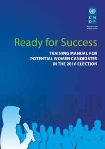 Ready for Success. Training Manual for Potential Women Candidates