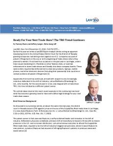 Ready For Your Next Trade Show? The TRO Trend Continues