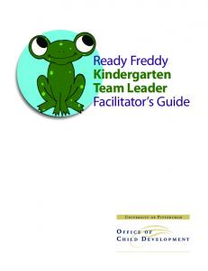 Ready Freddy Kindergarten Team Leader Facilitator s Guide