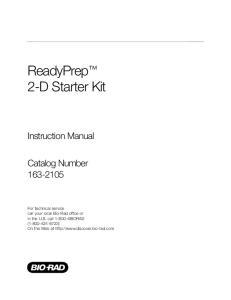 ReadyPrep 2-D Starter Kit