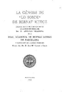 REAL ACADEMIA DE BUENAS LETRAS DE BARCELONA