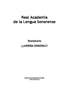 Real Academia de la Lengua Sonorense