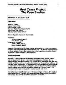 Real Cases Project: The Case Studies