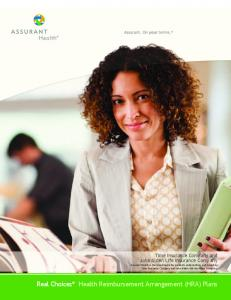 Real Choices Health Reimbursement Arrangement (HRA) Plans