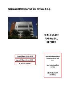 REAL ESTATE APPRAISAL REPORT