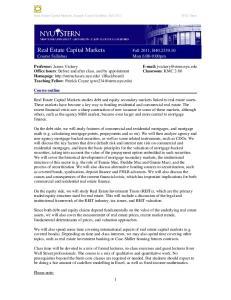 Real Estate Capital Markets