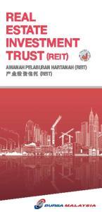 REAL ESTATE INVESTMENT TRUST (REIT) AMANAH PELABURAN HARTANAH (REIT) (REIT)