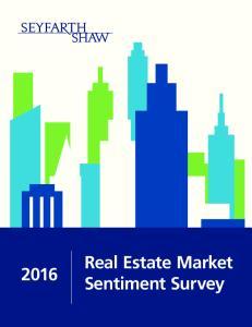 Real Estate Market Sentiment Survey