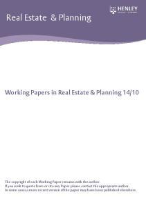 Real Estate & Planning