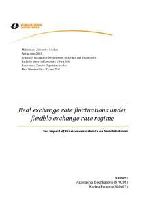 Real exchange rate fluctuations under flexible exchange rate regime