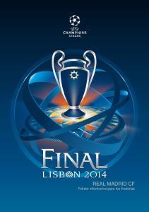 REAL MADRID CF Folleto informativo para los finalistas