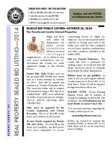 REAL PROPERTY SEALED BID LISTING 2014