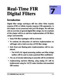 Real-Time FIR Digital Filters