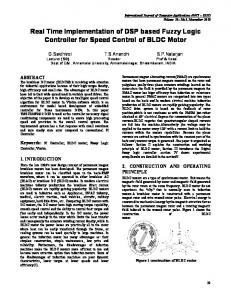 Real Time Implementation of DSP based Fuzzy Logic Controller for Speed Control of BLDC Motor