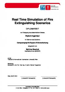 Real Time Simulation of Fire Extinguishing Scenarios