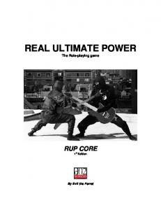 REAL ULTIMATE POWER The Role-playing game