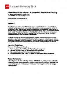 Real-World Solutions: Autodesk Revit for Lifecycle Management