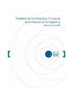 Realidad de los Derechos Humanos de la Infancia en Argentina Informe Anual 2009