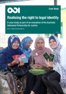 Realising the right to legal identity