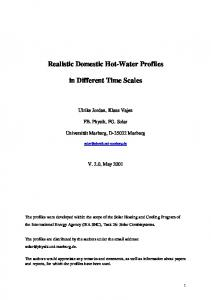 Realistic Domestic Hot-Water Profiles. in Different Time Scales