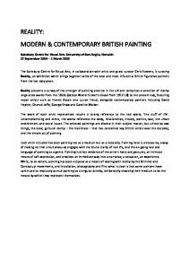 REALITY: MODERN & CONTEMPORARY BRITISH PAINTING