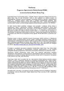 Realizacja Programu Ograniczenia Niskiej Emisji (PONE) na terenie Gminy Miasto Nowy Targ