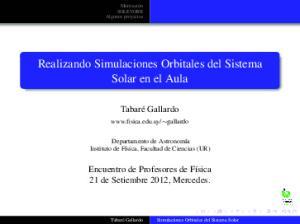 Realizando Simulaciones Orbitales del Sistema Solar en el Aula