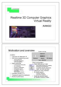 Realtime 3D Computer Graphics Virtual Reality