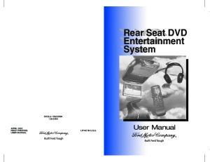Rear Seat DVD Entertainment System