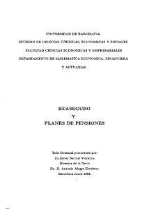 REASEGURO Y PLANES DE PENSIONES