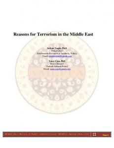 Reasons for Terrorism in the Middle East