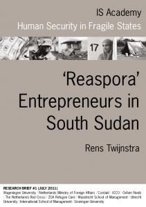 Reaspora Entrepreneurs in South Sudan