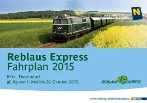 Reblaus Express Fahrplan 2015
