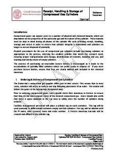 Receipt, Handling & Storage of Compressed Gas Cylinders
