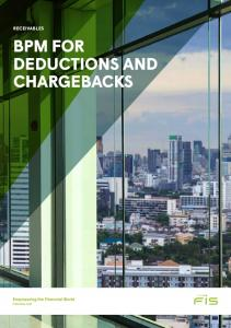 RECEIVABLES BPM FOR DEDUCTIONS AND CHARGEBACKS