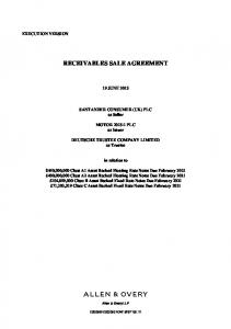 RECEIVABLES SALE AGREEMENT