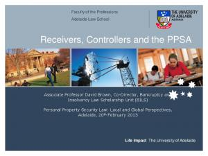 Receivers, Controllers and the PPSA