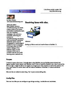 Receiving faxes with efax