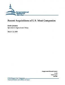 Recent Acquisitions of U.S. Meat Companies