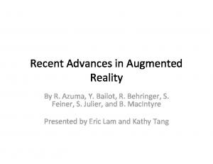 Recent Advances in Augmented Reality
