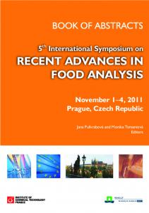 RECENT ADVANCES IN FOOD ANALYSIS