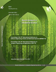 RECENT ADVANCES in INFORMATION SCIENCE