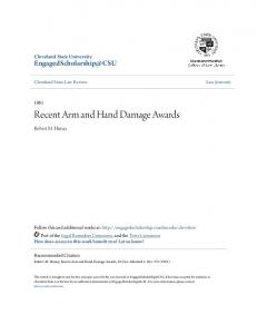 Recent Arm and Hand Damage Awards