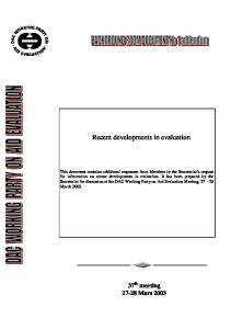 Recent developments in evaluation