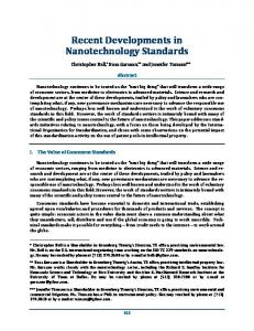 Recent Developments in Nanotechnology Standards