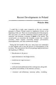 Recent Developments in Poland