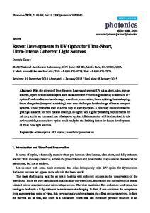 Recent Developments in UV Optics for Ultra-Short, Ultra-Intense Coherent Light Sources