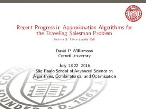 Recent Progress in Approximation Algorithms for the Traveling Salesman Problem
