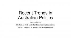 Recent Trends in Australian Politics