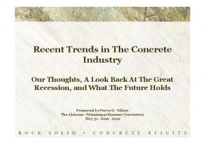 Recent Trends in The Concrete Industry